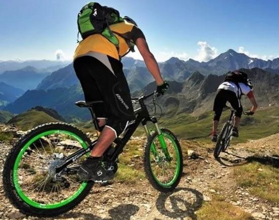 Любительская езда на велосипеде помогает в тренировках к восхождению