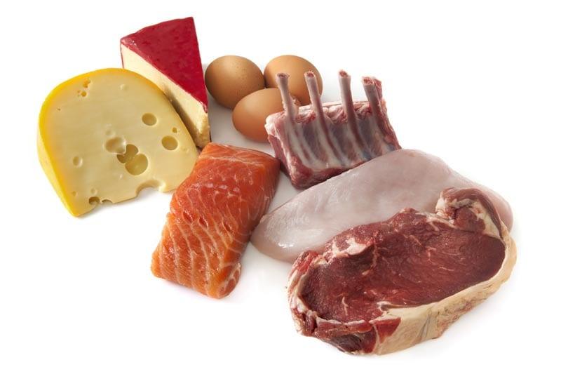 Изображены продукты с высоким содержанием белка