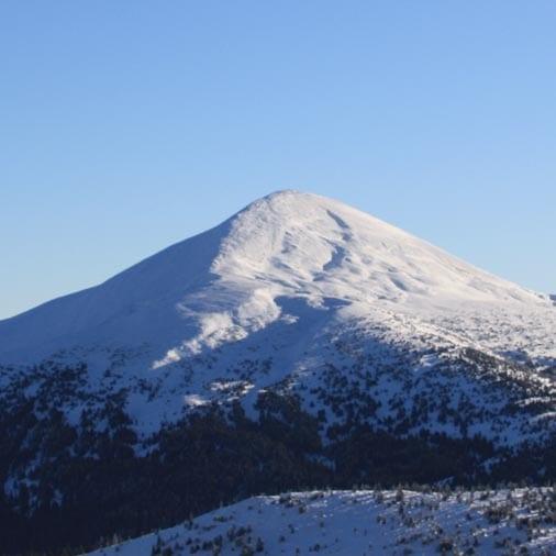 Картинка для восхождения на Говерлу и Петрос в зимнее время года