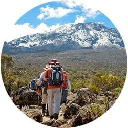 Изображение маршрута Ронгаи на Килиманджаро